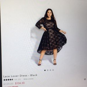 City chic NWOT black lace dress 14W